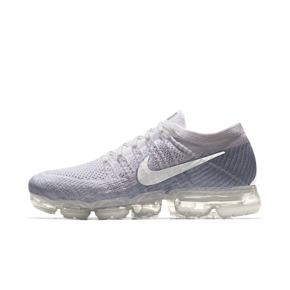Nike Air VaporMax Flyknit iD Women's Running Shoe Size 8.5 (White)