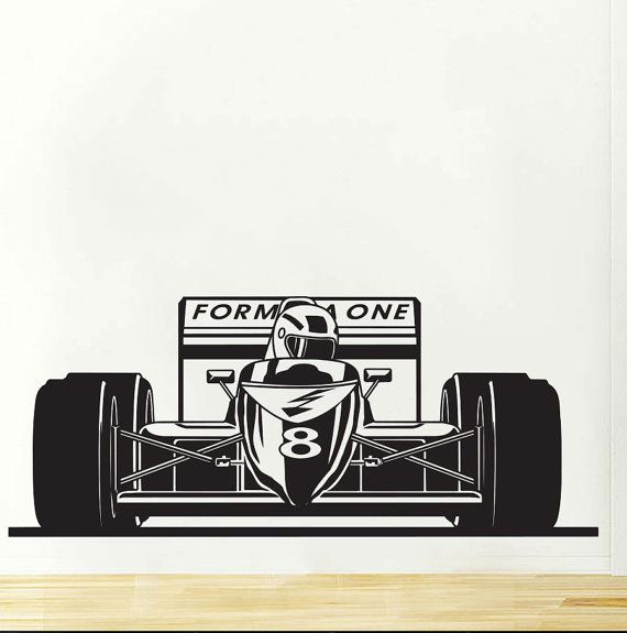 Formula Sports Race Car Racing Wall Decal By VinylWallArtworks - Formula 1 wall decals