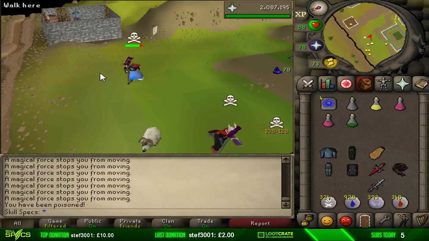 Skillspecs showing off why he is know in all of Runescape as