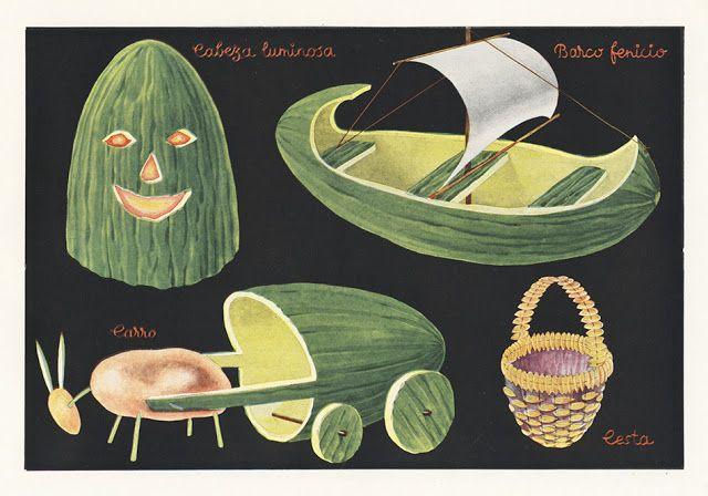 43 trabajos manuales hechos con melón, cacahuetes, huevo, naranja