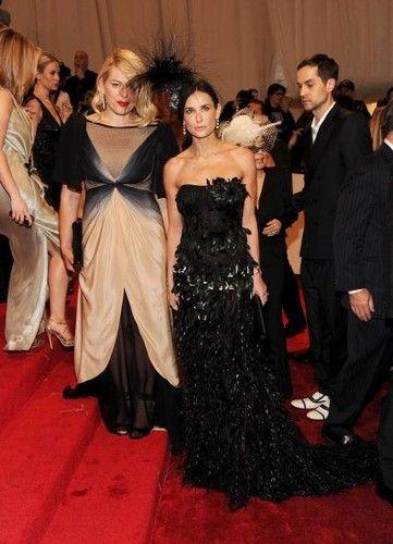 Demi Moore's black gown from the 2011 Met Gala for the Alexander McQueen exhibit
