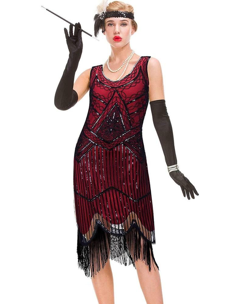 78642bd033 GVOICE Women s 20S Gatsby Dress - Inspired Art Deco Flapper Dress  fashion   clothing  shoes  accessories  womensclothing  dresses  ad (ebay link)