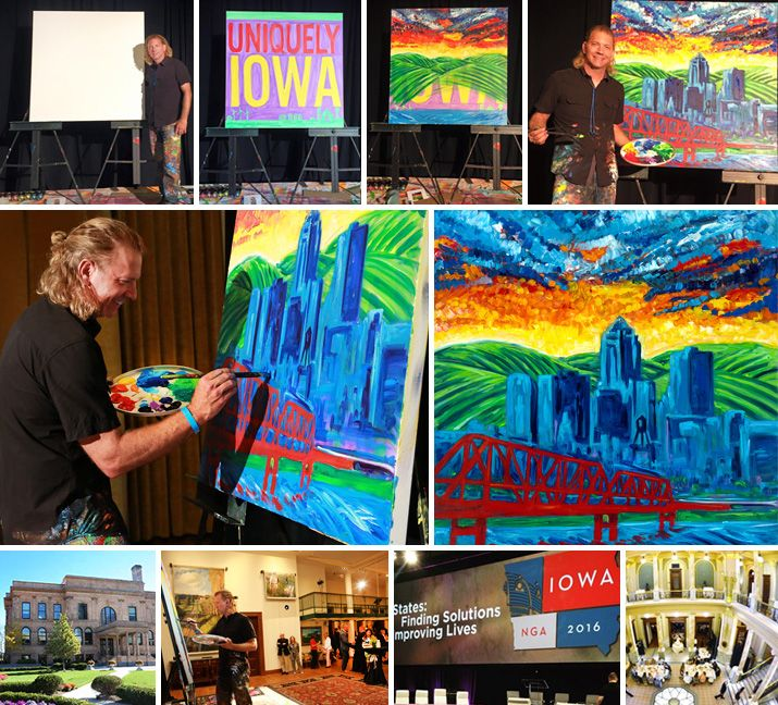 #NJArtist William Butler - incredibly honored to have partnered with the National Governor's Association (NGA). William recently painted live for the 50 State Governors, their spouses, and dignitaries at the 2016 NGA Summer Meeting in Des Moines, IA.