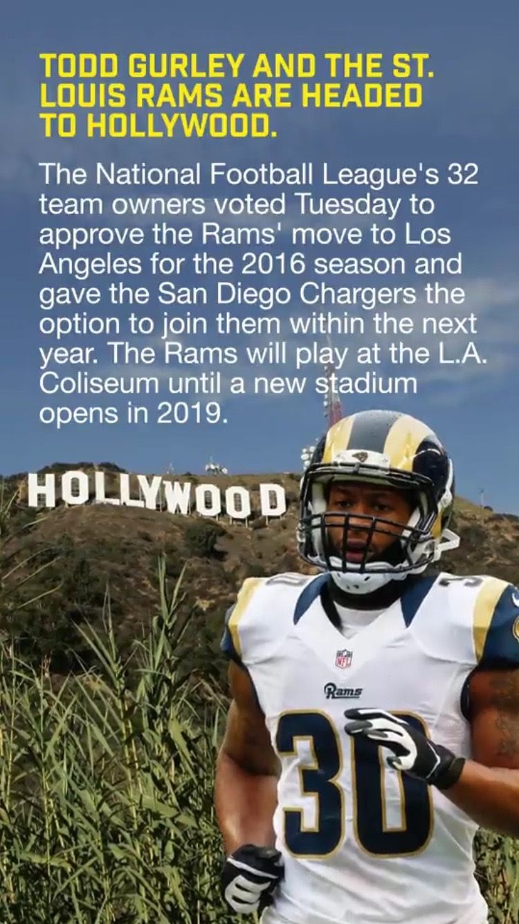 Rams In La Moving To Los Angeles National Football League La Rams