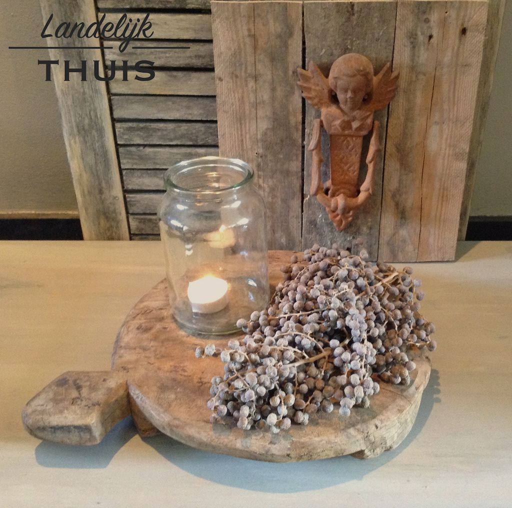 Broodplank met landelijke woondecoratie bijzondere for Decoratie tafel landelijk