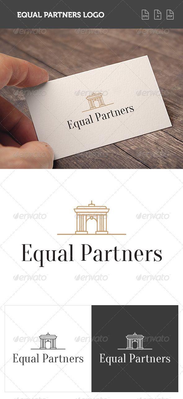 Equal Partners Logo House Logo Design Logo Design Template Building Logo
