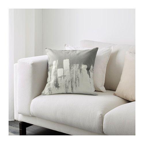SLÖJGRAN Kissenbezug, grau/beige | Kissenbezüge und Ikea