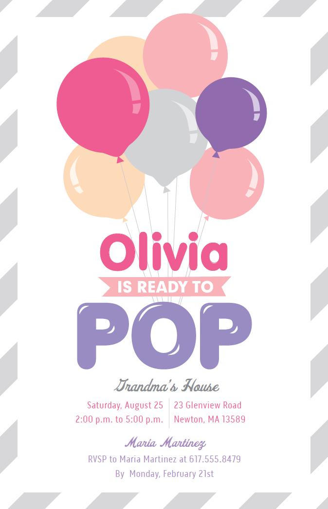 Ready To Pop Baby Shower | Vistaprint | Baby Shower Invitations and ...
