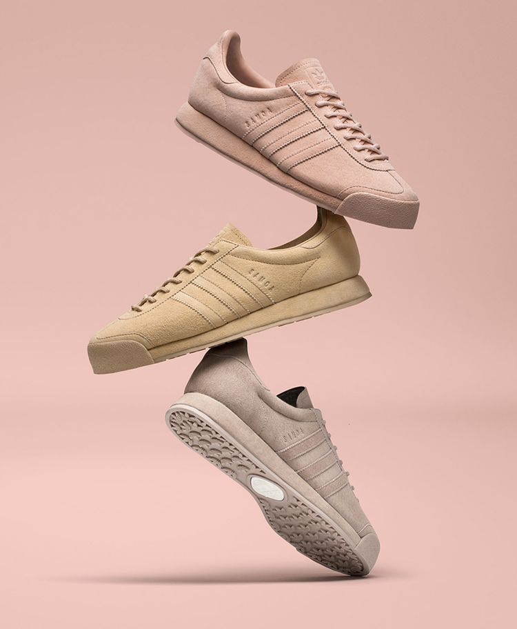 new arrival c6a61 c8ee1 adidas Originals revives the iconic Samoa silhouette featuring three unique  colorways wrapped entirely in pigskin with a suede treatment creating a  luxe ...