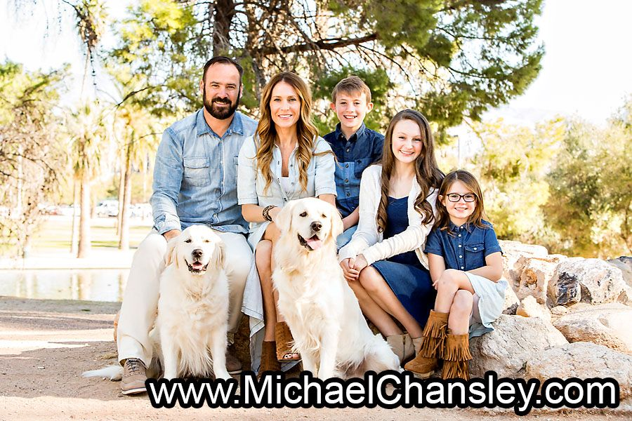 Fun Family Portrait Photo With Dogs Dog Ideas At Reid Park In Tucson