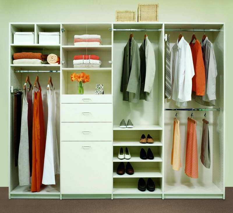 Closet storage modern closet organization design with for Modelos de walk in closet