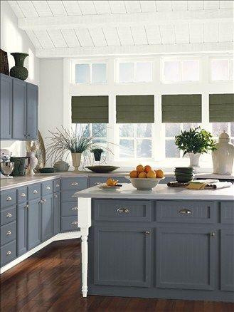 Benjamin Moore Ocean Floor 1630 Kitchen Island Color Idea Paint