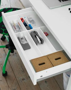 Too Much Clutter On Your Desk Get Space Saving Ikea Desk Organizers And You Can Start The New Year Off With A Clean Slat Ikea Office Ikea Desk Paper Organizer