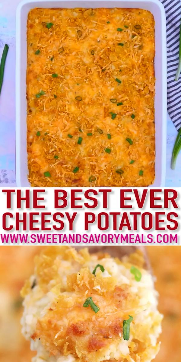 The Best Cheesy Potatoes Recipe - Sweet and Savory Meals images