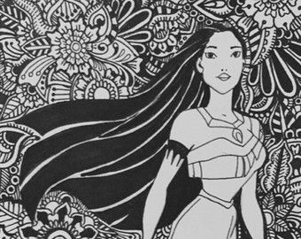 Diseno Blanco Nieve Por Byjamierose En Etsy Free Disney Coloring Pages Disney Coloring Pages Mandala Coloring Pages