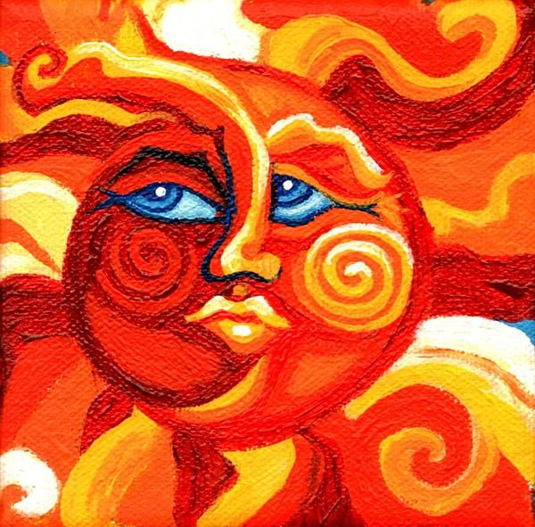 Sun Face $50.00 Dimensions 4.000 x 4.000 x 2.000 inches 25% OFF PRINT SALE thru 5/9/13. Key in KSSUES FOR COUPON