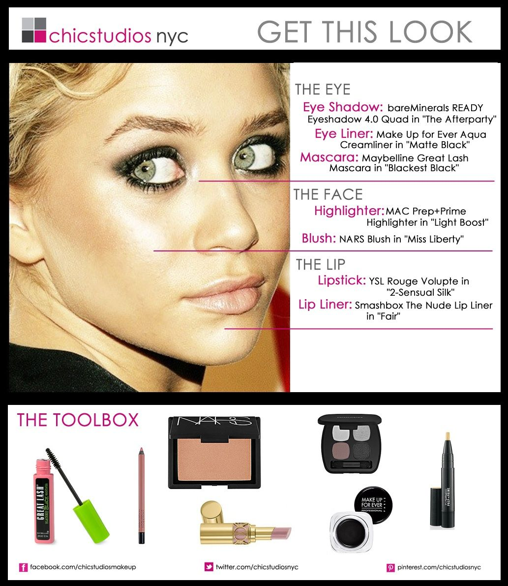 Chic beauty look l ashley olsen l nars l nude lip chic get this ashley olsen makeup how to 15 celeb inspired makeup tutorials to copy right now baditri Image collections