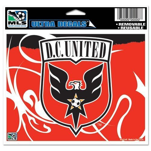 Dc united mls wincraft sports removable ultra decal bumper sticker