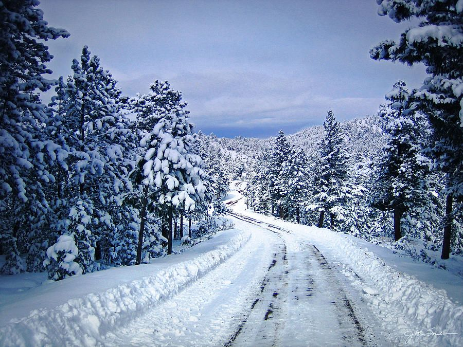 Winter Woodland Photo Country Roads Take Me Home Mountain Landscape Nature By Julie Magers Soulen Mountain Landscape Winter Photography Blue Wall Art