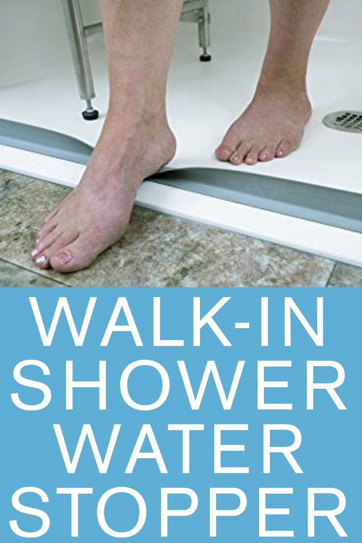water stopper walk in shower Small Bathroom walk in shower No Door ...