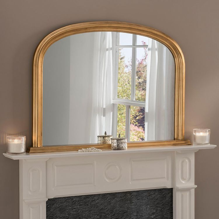 Expertly crafted in the UK, this mirror is made to order just for you by the skilled artisans at Yearn Glass. This traditional overmantle mirror will be the focal point of your living space. It features an elegantly moulded hand leafed wooden frame which gives a feeling of light and space in your room. It is also made with Polyurathane beneficial for resilience and  note, unfortunately we cannot deliver this item to the Channel  #accent #accentwall #accentchairs #accentwallideas #accenttable