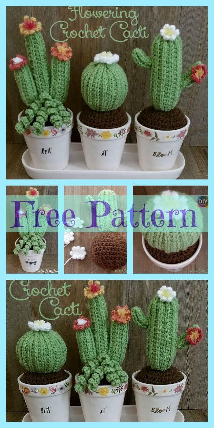 10 Free Crochet Cactus Patterns • Oombawka Design Crochet | 1400x700