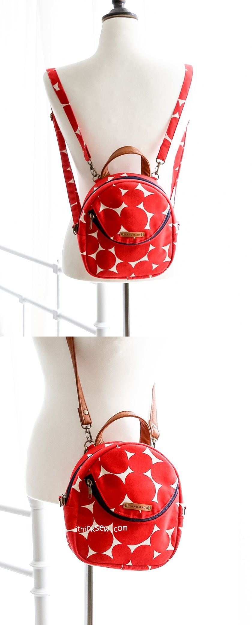 Inez Mini Backpack/Cross Bag PDF Pattern - ithinksew.com #ithinksew ...
