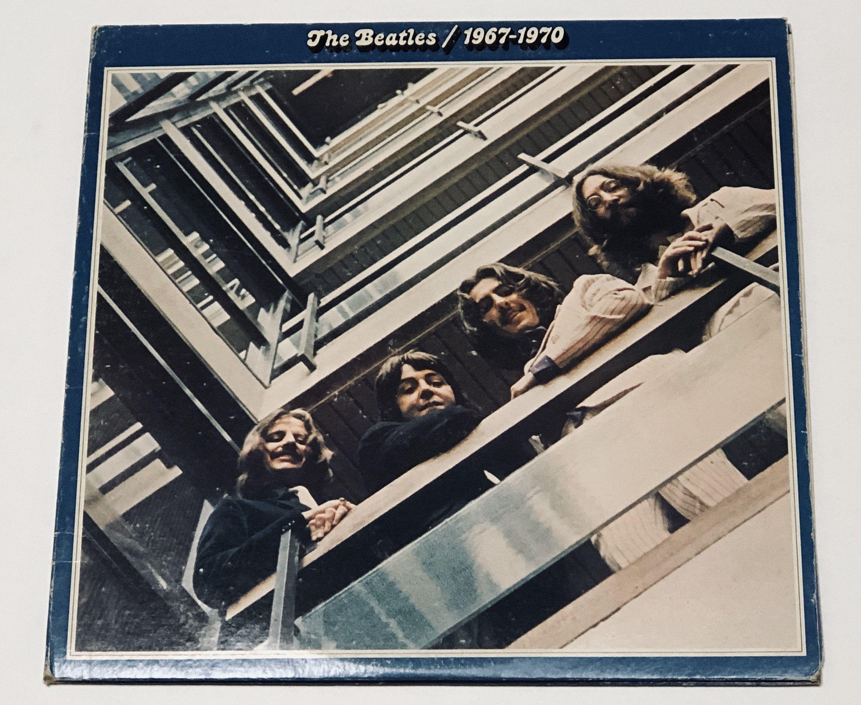 The Beatles 1967 1970 The Blue Album Lady Etsy In 2020 The Beatles Record Album Album