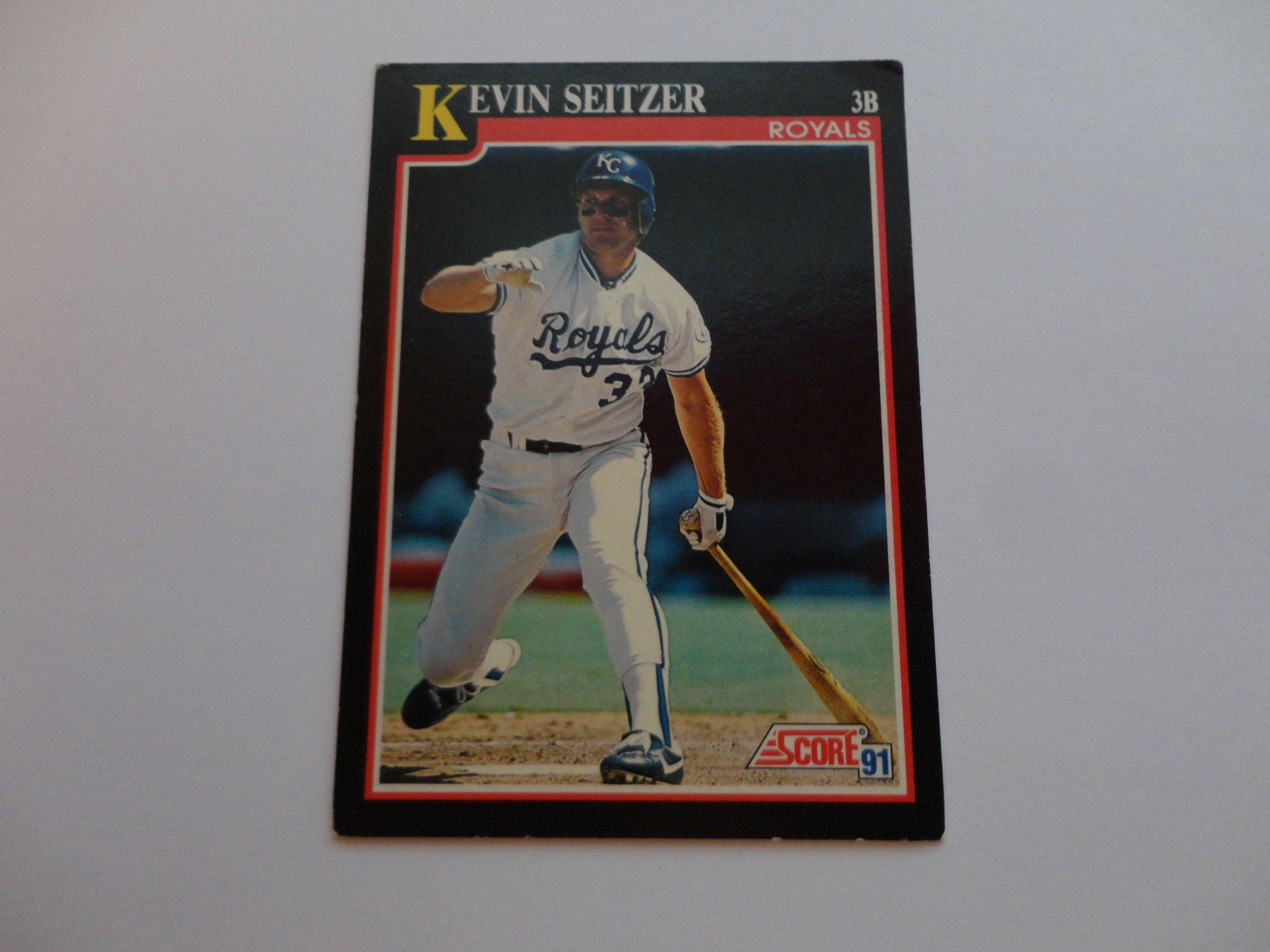 Kevin seitzer 1991 score baseball cards baseball scores