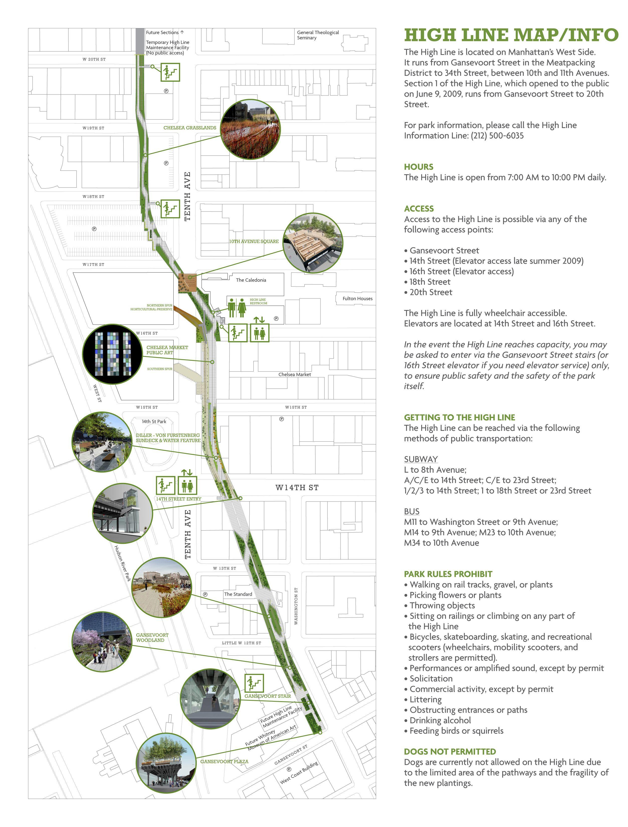 NY Highline 마스터 플랜, 지도, 그래픽
