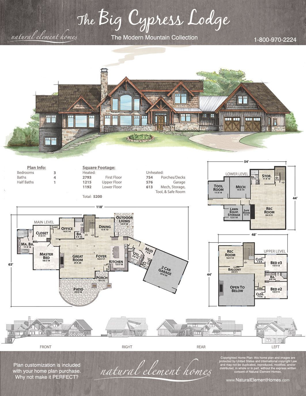 Big Cypress Lodge Natural Element Homes Modern Mountain House Floor Plans Mountain Home Exterior Mountain House Plans