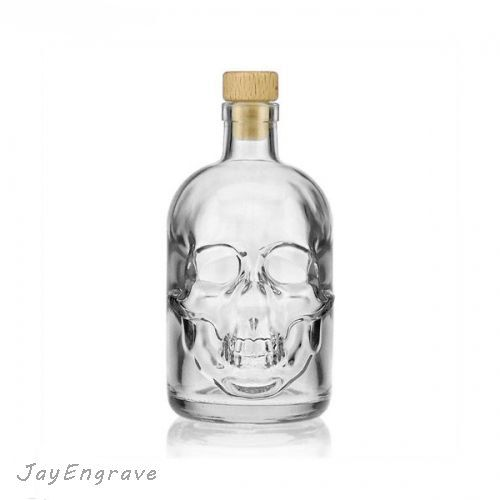 500ml Crystal Skull Head Empty Glass Pirate Whisky by JayEngrave ...