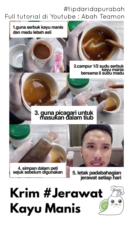 DIY Krim Jerawat Kayu Manis Jerawat, Perawatan kulit