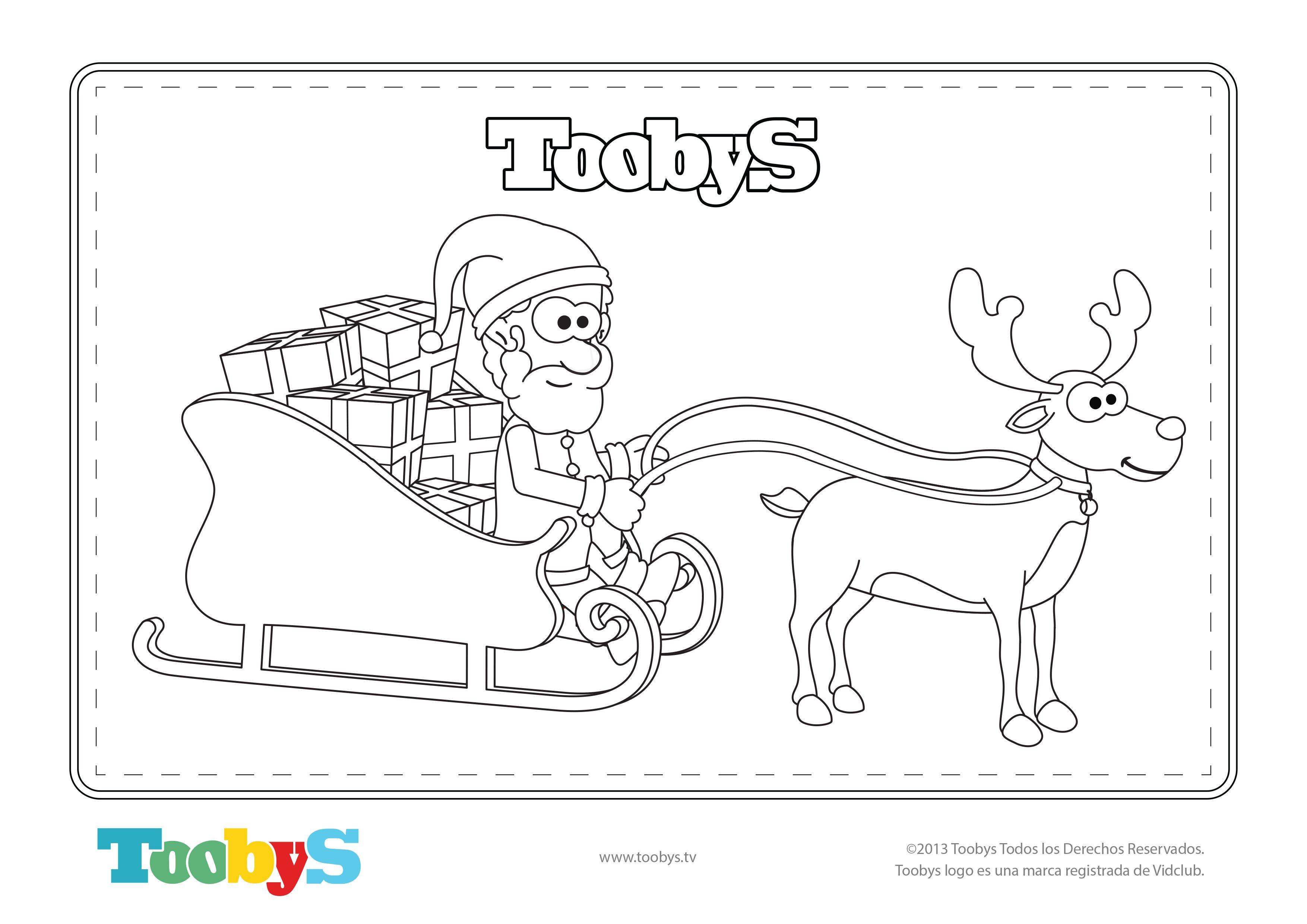 Ayúdanos a colorear a Papá Noel y su reno! ¿Nos envías la imagen ...