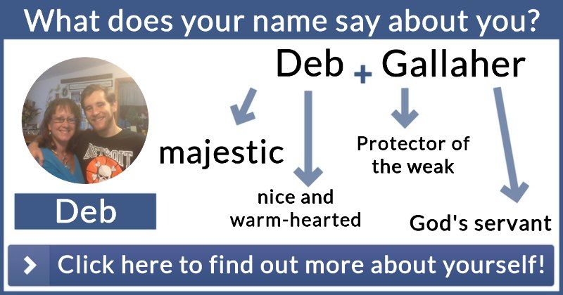 What does your name say about you? Names