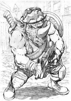 Tmnt Rocksteady By Smolb Teenage Mutant Ninja Turtles Art Ninja