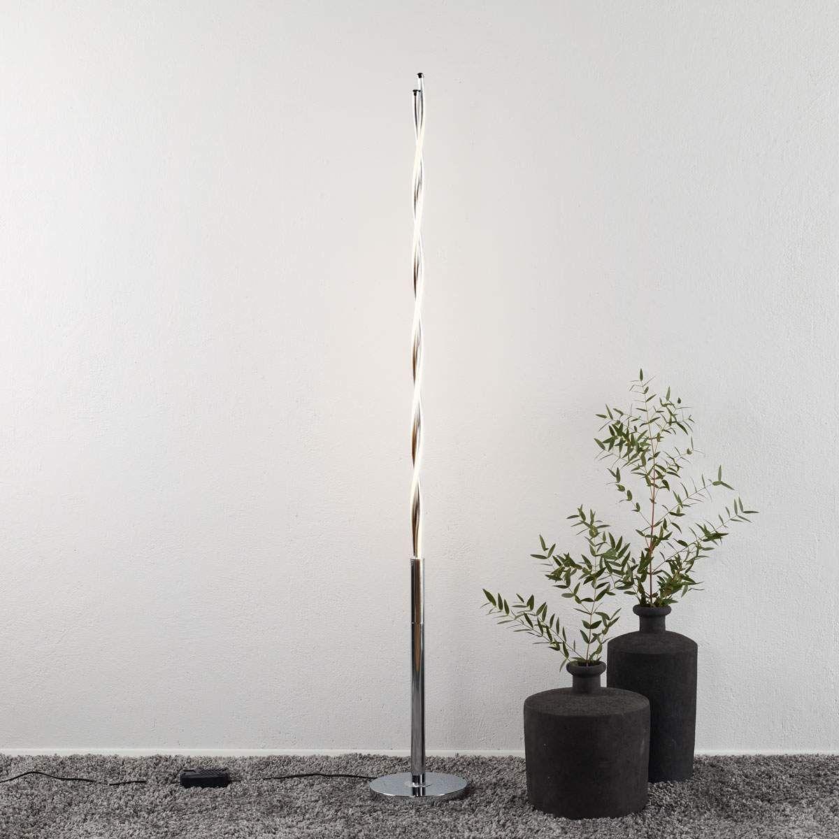 Moderne Stehlampe Portofino Von Trio Lighting Silber Stehlampe Led Stehlampe Und Led Stehleuchte