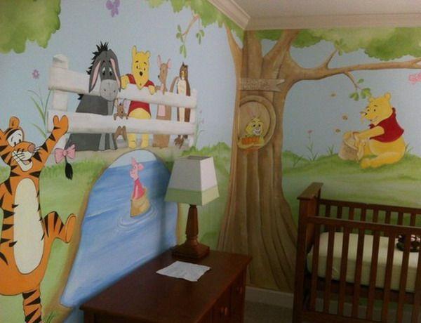 Winnie The Pooh Room Themes Setting Your Kids Room With Winnie The Pooh Theme Winnie The Pooh And Winnie The Pooh Nursery Baby Room Paintings Nursery Mural