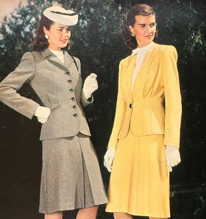Snapped Garters: 1944 Fashions IN COLOUR!