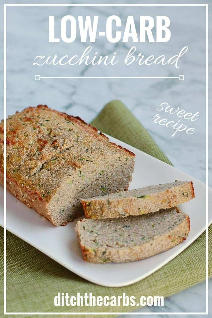 LOOK at how easy this sweet coconut flour low-carb zucchini bread recipe is to make. Gluten free, grain free, Paleo, healthy family recipe. #keto #lowcarb #lchf #grainfree #glutenfree #sugarfree #banting | ditchthecarbs.com