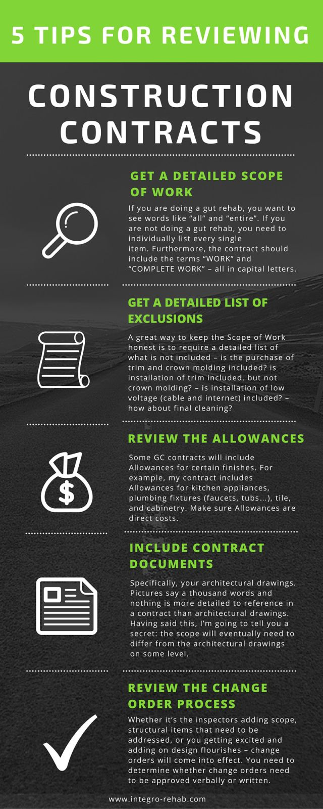 Infographic  Tips For Reviewing Construction Contracts