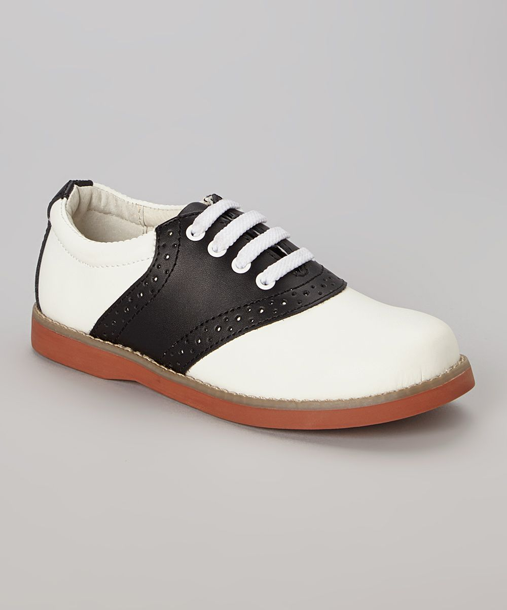 White And Black Cheer Leather Oxford Zulily Kid Shoes Laptop Bag Women