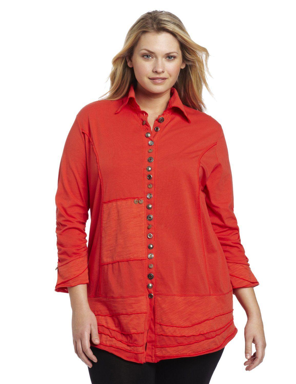 44ae2e1f6db Neon Buddha Womens Plus-Size Artisans Shirt, Inspired Red, 2X | Real ...