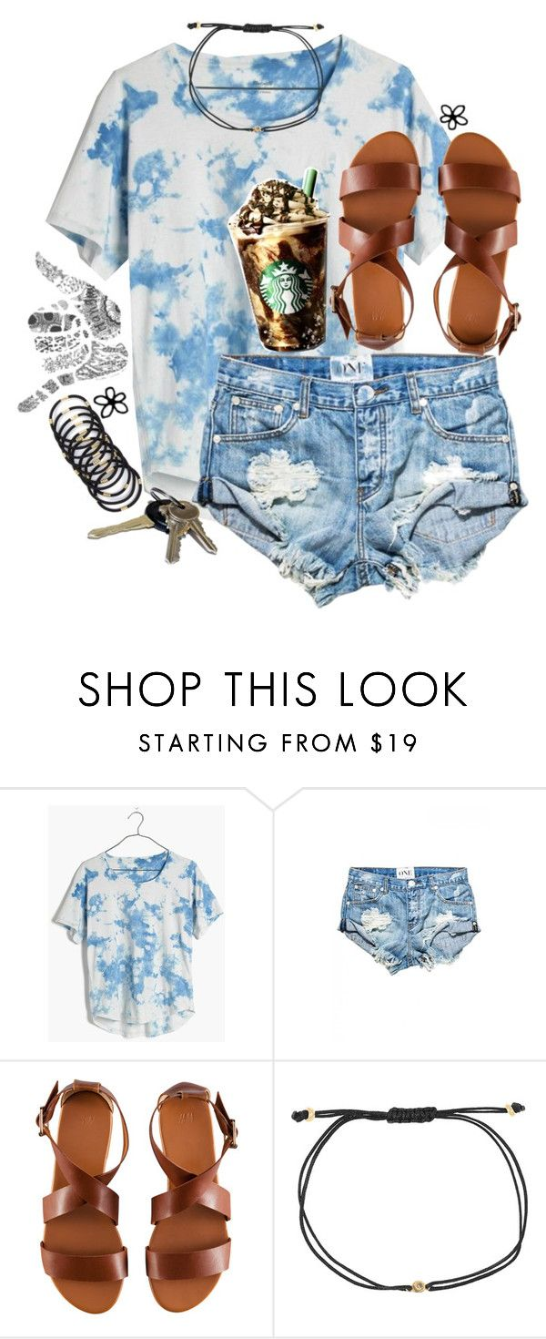 """theres only one thing two do three words four you. i love you."" by reaw ❤ liked on Polyvore featuring Madewell, One Teaspoon, H&M and Melissa Joy Manning"