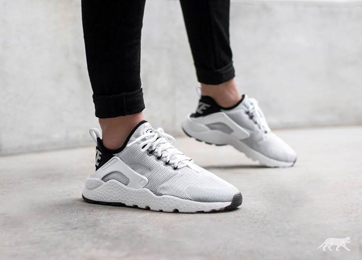 Nike Air Huarache Run Ultra Pk Br Wolf Grey Bright Mango On Feet TopDeals