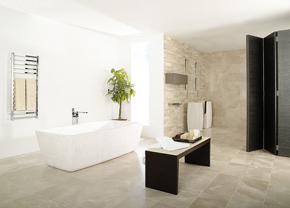 italian chandelier style Bathroom Contemporary with bathtubs contemporary bathroom Cream