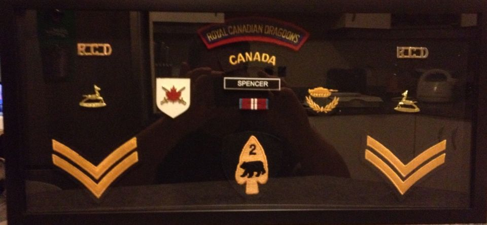 Little shadow box to commemorate my time in the Dragoons