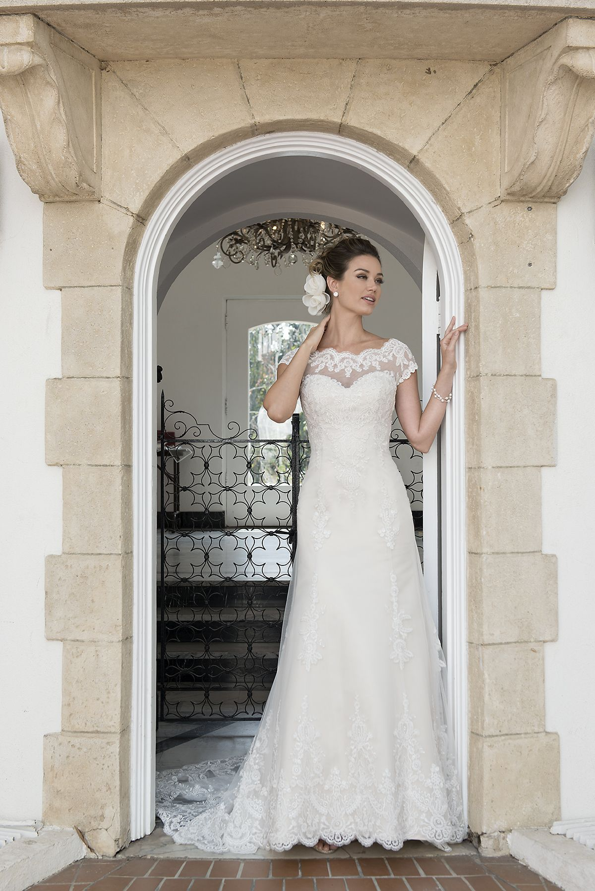 Venus Bridal Gown Stunning Lace Over Deco Gold Satin