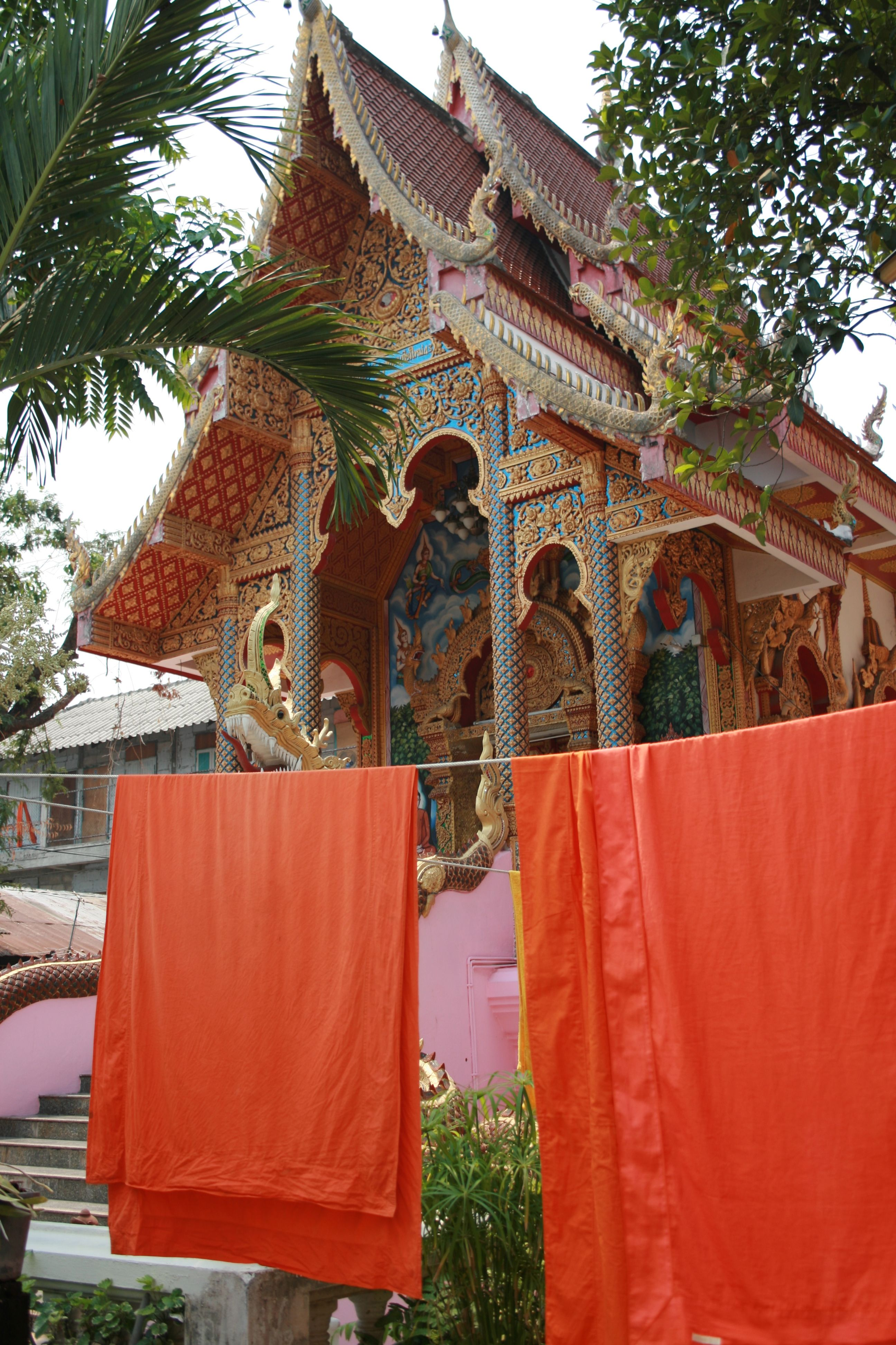 Monk Robes in Chiang Mai, Thailand