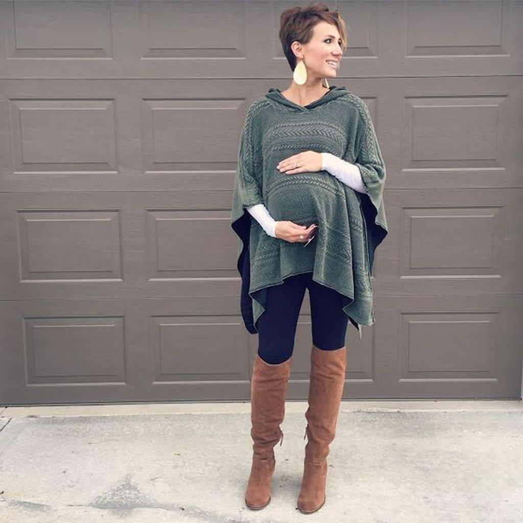 dcef40bd0b7cf 50 Cute Maternity Outfits Ideas For Winter | Clothes and things ...